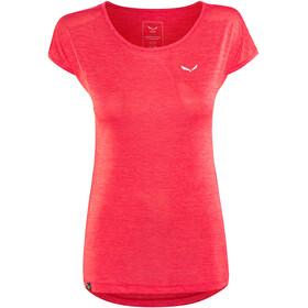 Salewa Puez Melange Dry Bluzka z krótkim rękawem Kobiety czerwony